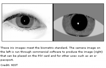 Image of  iris identification