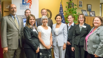 Secretary Penny Pritzker Meets with Commerce Employees in the Denver Office