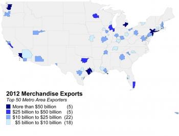2012 Merchandise Exports - Top 50 Metro Area Exporters