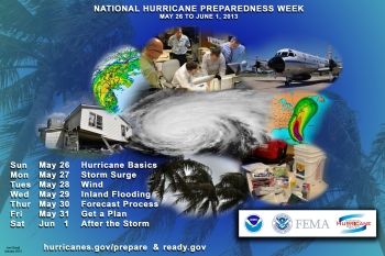 Poster for National Hurricane Preparedness Week