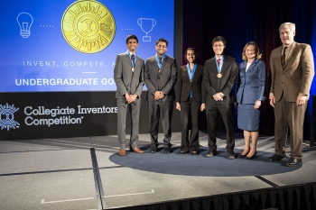 "USPTO Deputy Director Teresa Stanek Rea and Winning Inventors of the ""PrestoPatch"""