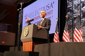 President Barack Obama delivered keynote remarks at the SelectUSA 2013 Investment Summit.