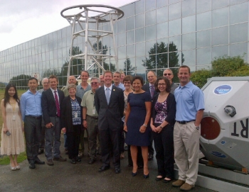 Secretary Pritzker is joined by Commerce employees at the National Oceanic and Atmospheric Administration's (NOAA) Western Regional Center in Seattle, Washington