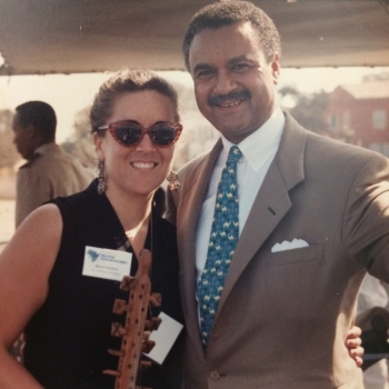 Maria Cardona and Secretary Ron Brown