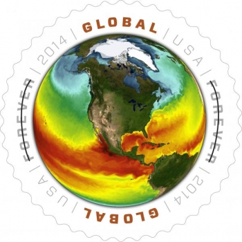 Global: Sea Surface Temperatures Forever® Stamp (credit USPS)