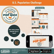 Census PoP Quiz Mobile App Challenges Knowledge of State Statistics