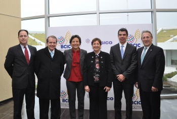 Secretary Pritzker is joined by Secretary of Economic Development Rolando Zubiran and Institute for Innovation and Technology CEO Jaime Parada at  Monterrey's Research and Technology Park