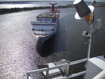 The air gap sensor installed on the Dames Point Bridge in Jacksonville, Fla., ensured that Carnival Cruise Lines could continue serving the Port of Jacksonville while the bridge was undergoing repairs. According to a 2009 study completed by Martin Associates, the cruise industry generates more than $67 million in annual economic impact for Northeast Florida.