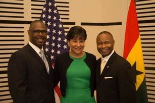 SEWW Energy, Inc. David Ellis, SVP, Secretary of Commerce Penny Pritzker and Kevon Makell, Chairman, President, & Chief Executive Officer for SEWW Energy, Inc. while on the West Africa Trade Mission