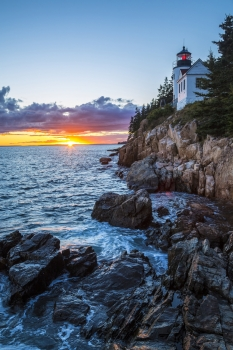 Bass Harbor Head Lighthouse at Sunset in Acadia National Park.  Photo: Jeremy Stevens (www.sharetheexperience.org)