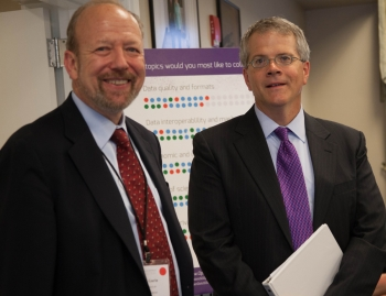 Joel Gurin, Senior Advisor at The GovLab (left) and Acting Deputy Secretary Bruce Andrews