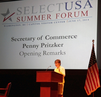 Secretary Pritzker speaks at the SelectUSA Summer Forum