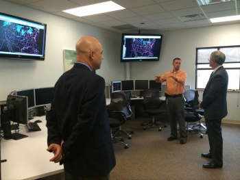 Deputy Secretary Bruce Andrews meets with NWS researchers and tours the Aviation Weather Center