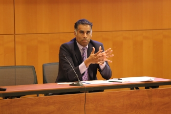 Deputy General Counsel Justin Antonipillai discussing Secretary's initiative