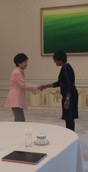 Secretary Pritzker Meets with Korean Pesident Park Geun-hye on the Trade Mission