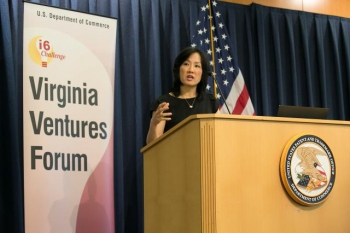 Deputy Under Secretary of Commerce for Intellectual Property and Deputy Director of the United States Patent and Trademark Office (USPTO) Michelle K. Lee addressed the Virginia Ventures Forum, a meeting of the statewide Virginia Innovation Partnersh