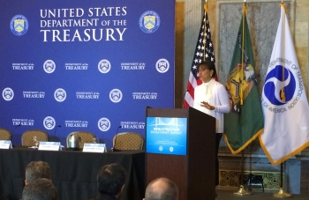 "Secretary of Commerce Penny Pritzker discussed the Administration's efforts to ""Build America"" at the Infrastructure Investment Summit hosted by the U.S. Departments of Treasury and Transportation."