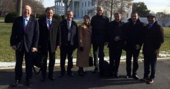 Ambassador LeVine and Swiss Business Leaders at White House Investment Mission