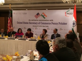 Secretary Pritzker Focuses on Strengthening Bilateral Commercial Relationship, Increasing Foreign Direct Investment During Trip to India