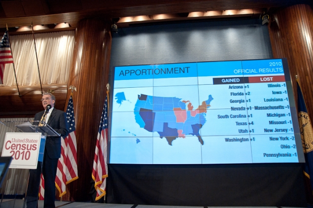 List of states gaining and losing seats in reapportionment