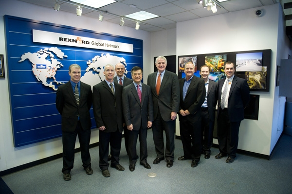 Secretary Locke Poses with some of the Rexnord Industries Team