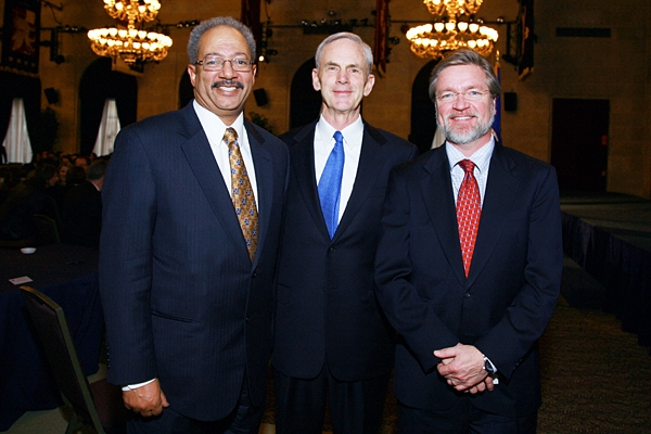 Secretary Bryson is joined by Congressman Chaka Fattah and  Rolf Lundberg, Senior Vice President, Congressional and Public Affairs at the U.S. Chamber of Commerce