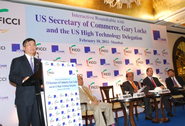 Secretary Locke addresses CEOs of Indian Companies at FICCI event in Mumbai