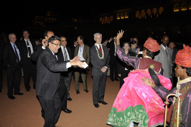 Secretary Bryson at a welcome reception in Jaipur