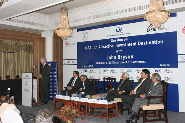 Secretary Bryson speaks at a luncheon hosted by the Confederation of Indian Industry (CII), where he talked about how the U.S.-India bilateral relationship is stronger than ever, and encouraged Indian investment in the U.S. as a means of fostering economi