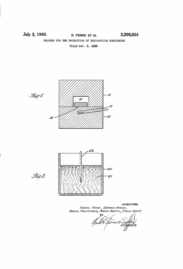 Drawing of device for production of radioactive substances