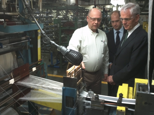 ecretary Bryson tours Schlegel Systems, Inc., a client of the Commerce Department's Manufacturing Extension Partnership in New York