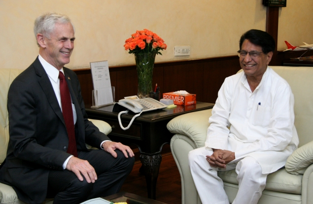 Secretary Bryson meeting with Civil Aviation Minister Ajit Singh