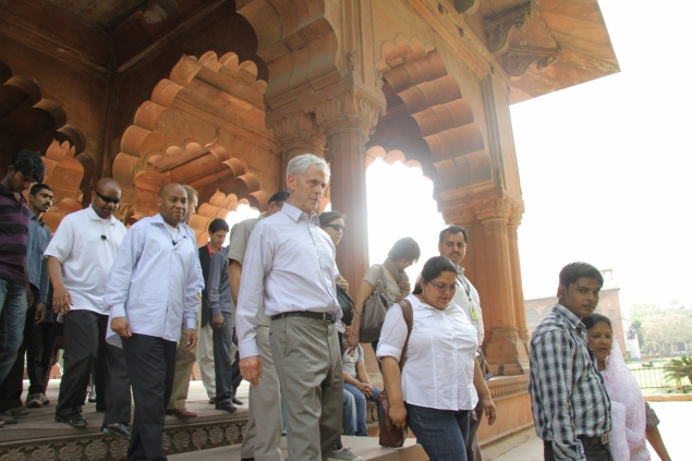 Secretary Bryson touring the Red Fort