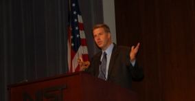 NIST Director Pat Gallagher at Podium