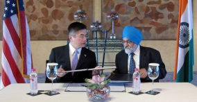Secretary Locke is signing the Energy Cooperation Program MOU with Indian Planning Commission Deputy Chairman Montek Singh Ahluwalia. The ECP is a partnership that brings together U.S. and Indian companies and both two governments to focus on specific projects and initiatives that will develop the clean energy marketplace and help realize its potential within India.