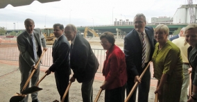 Acting Secretary Rebecca Blank and Other Officials Break Ground on the Cedar Rapids Convention Center