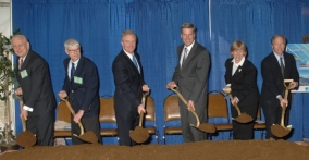 Government and industry officials break ground at NIST headquarters