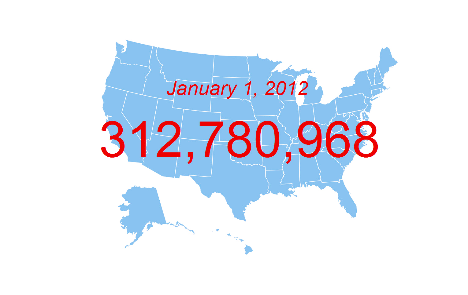 Census Bureau Projects U S Population Of 312 8 Million On New Year S Day 2012