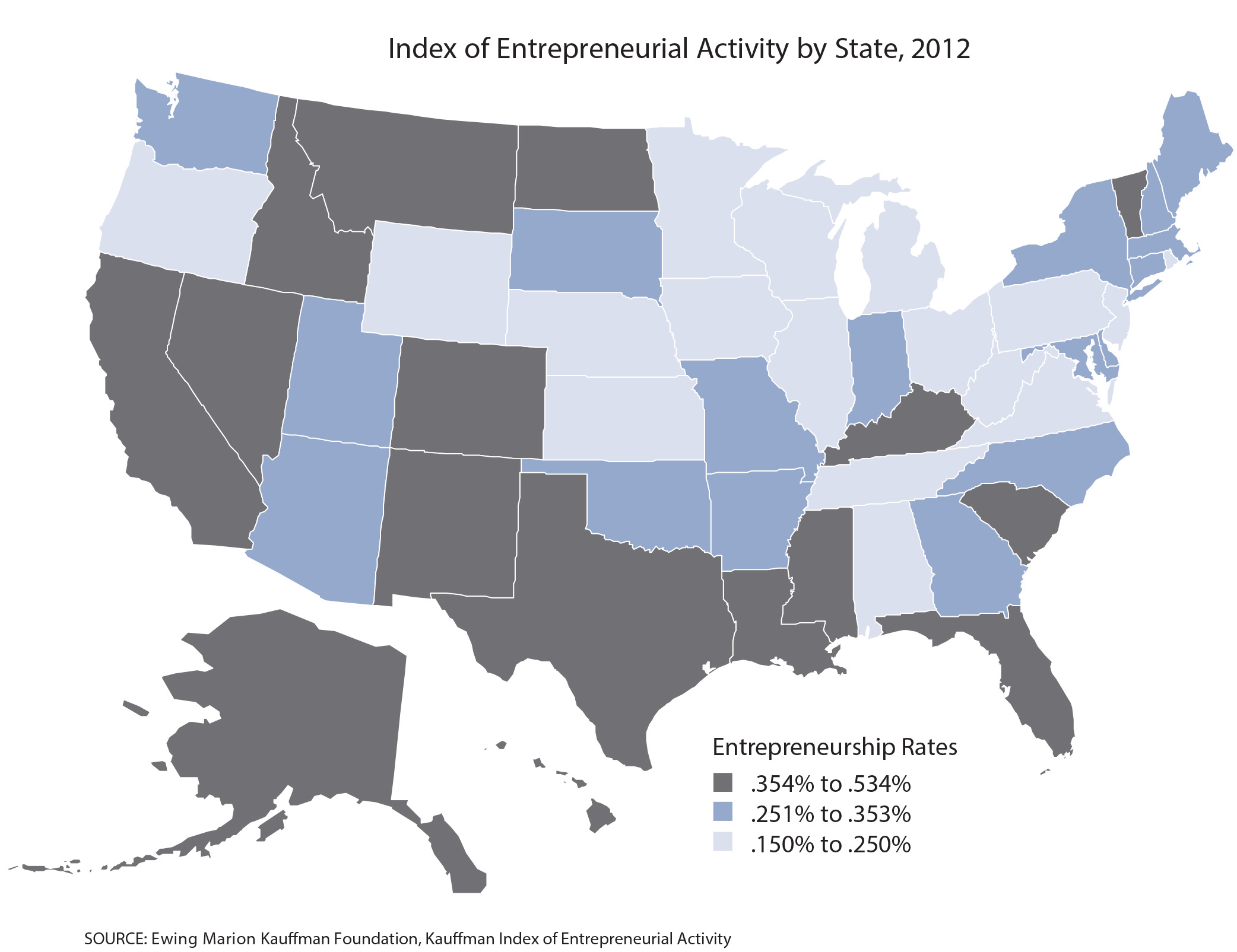 EDA Investments Supporting Entrepreneurship And Job Creation - Us map job growth