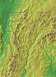 Topographic Map of Vermont