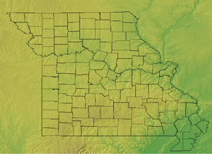Topographic Map of Missouri