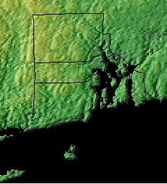 Topographic Map of Rhode Island