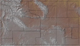 Topographic Map of Wyoming