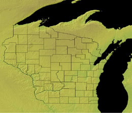 Topographic Map of Wisconsin
