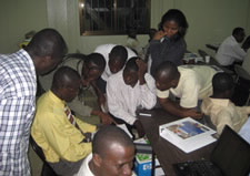 Photo depicting NOAA workshop in Ghana to train fishery observers. Click here for larger image.