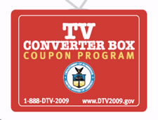 TV Converter Box Coupon Program Logo. Click to go to DTV Converter Box Program Web site.