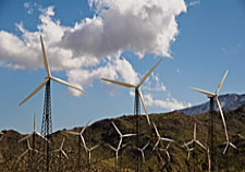 Image of electricity-producing wind farm. Click for larger image.