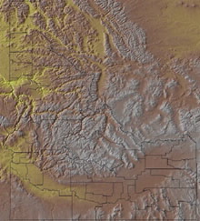 Topographic Map of Idaho