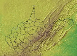 Topographic Map of West Virginia