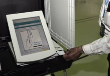 Image of electronic voting machine.